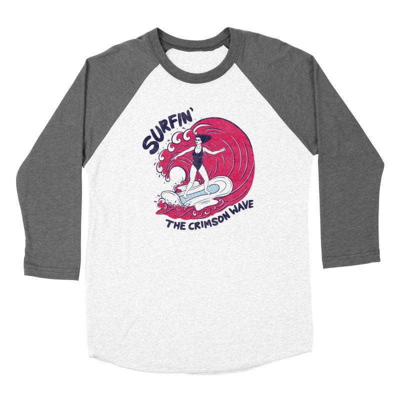 Surfin' The Crimson Wave Women's Longsleeve T-Shirt by classycreeps's Artist Shop