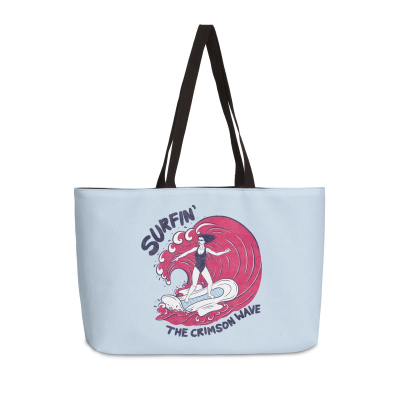 Surfin' The Crimson Wave Accessories Bag by classycreeps's Artist Shop