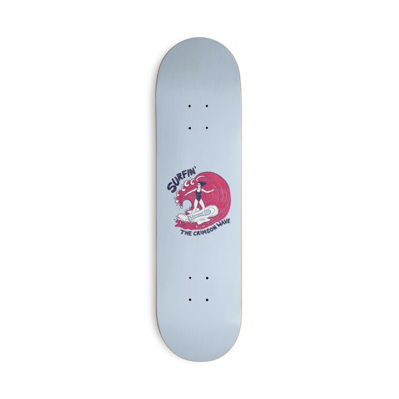 Surfin' The Crimson Wave Accessories Skateboard by classycreeps's Artist Shop