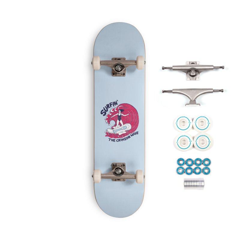 Surfin' The Crimson Wave Accessories Skateboard by classycreeps's Artist Shop