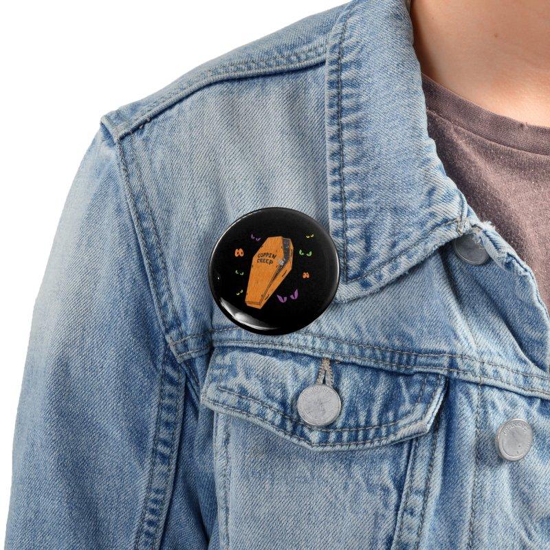 Coffin Creep Accessories Button by classycreeps's Artist Shop