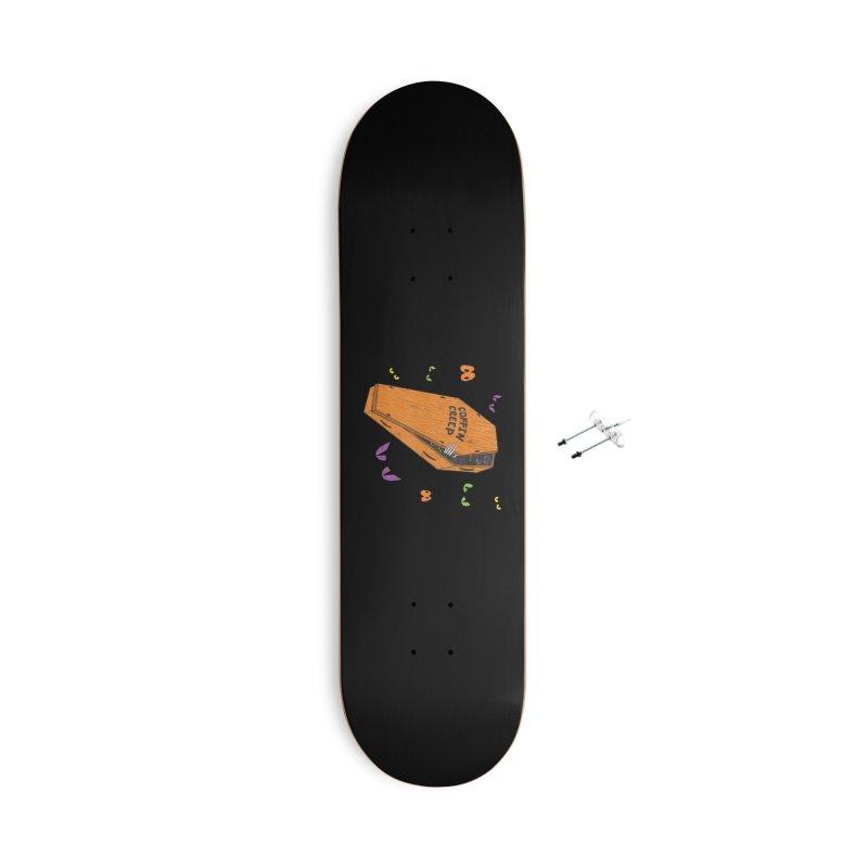 Coffin Creep Accessories Skateboard by classycreeps's Artist Shop