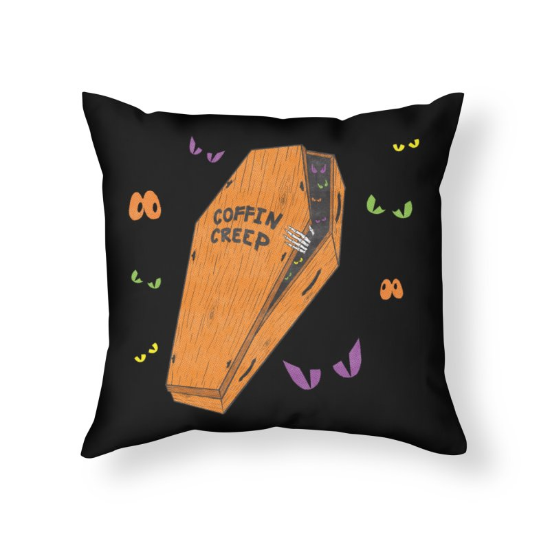 Coffin Creep Home Throw Pillow by classycreeps's Artist Shop