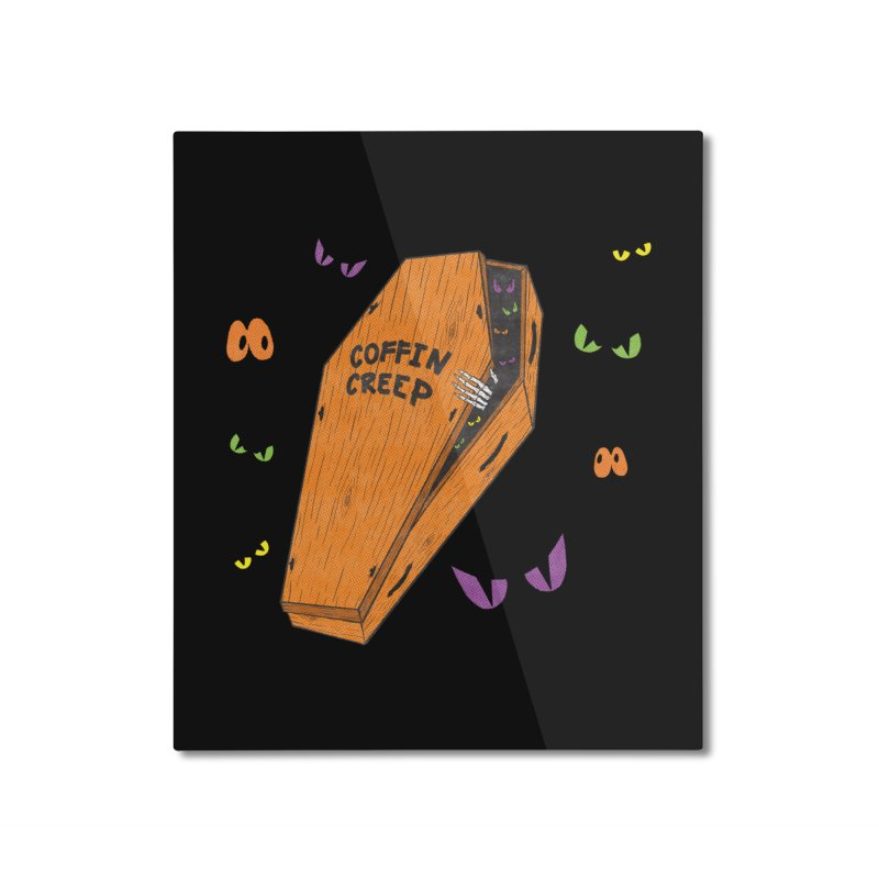 Coffin Creep Home Mounted Aluminum Print by classycreeps's Artist Shop