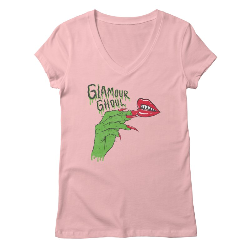Glamour Ghoul Women's V-Neck by classycreeps's Artist Shop