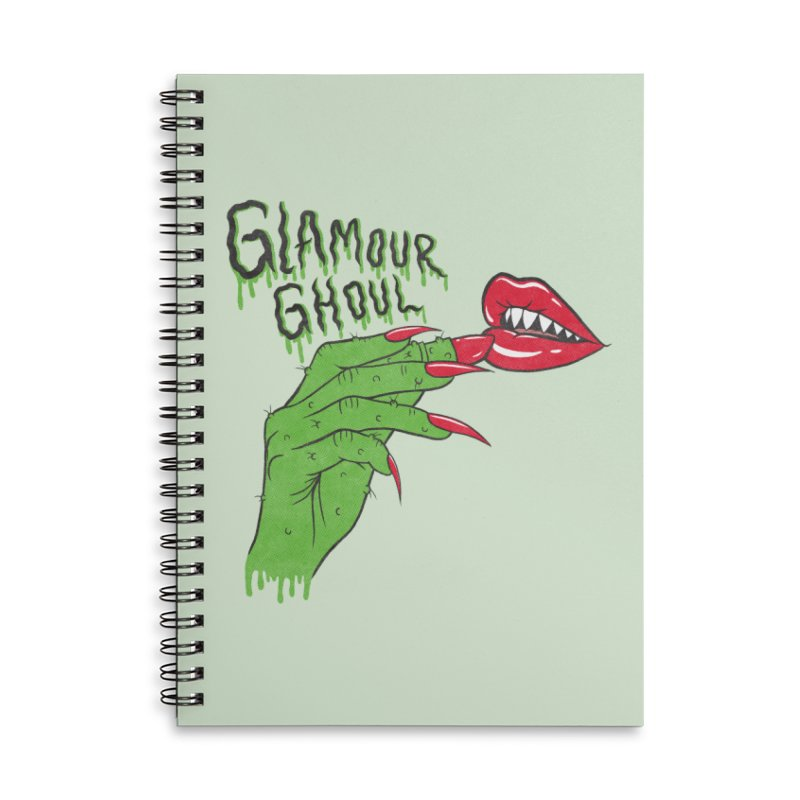 Glamour Ghoul Accessories Notebook by classycreeps's Artist Shop
