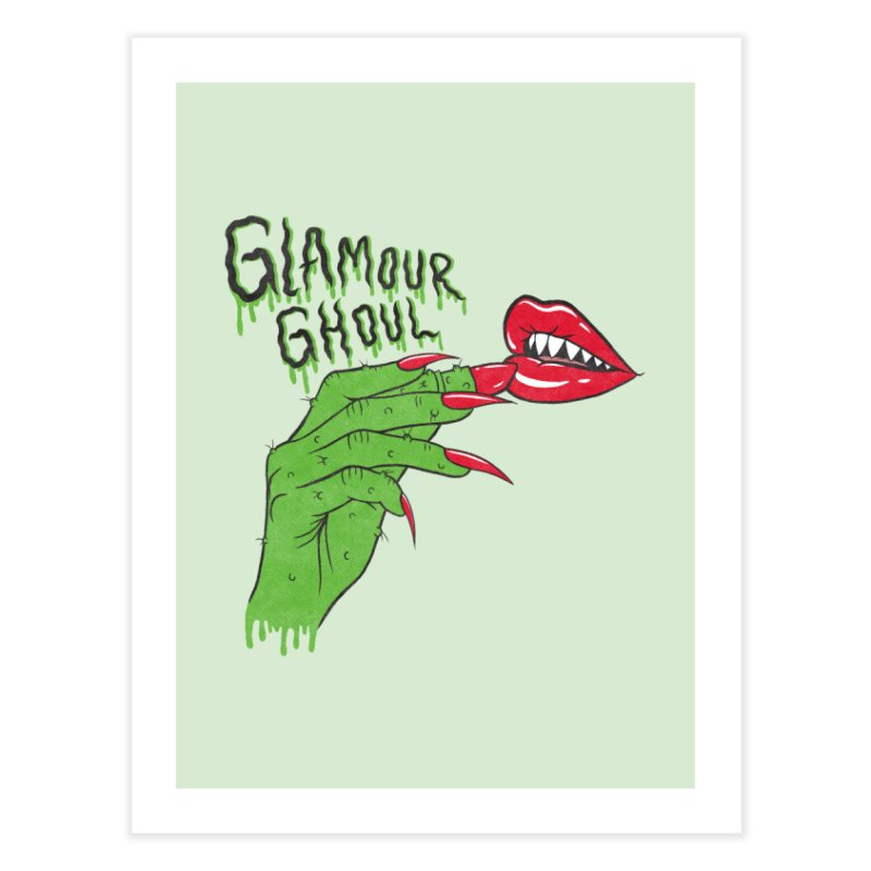 Glamour Ghoul Home Fine Art Print by classycreeps's Artist Shop