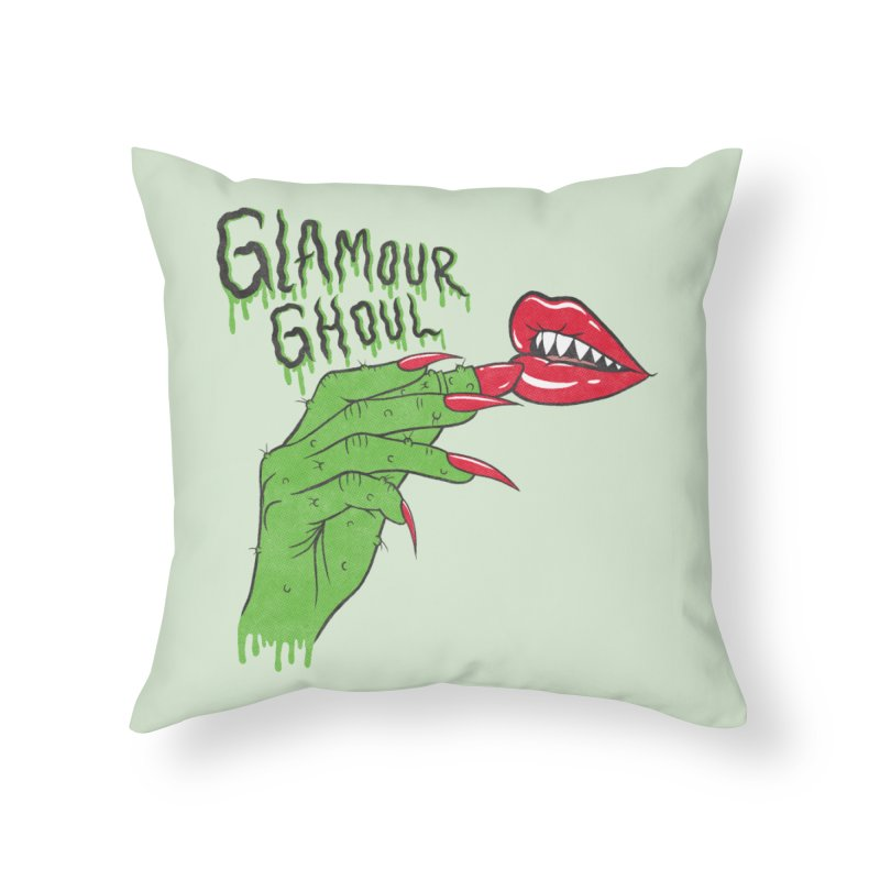 Glamour Ghoul Home Throw Pillow by classycreeps's Artist Shop