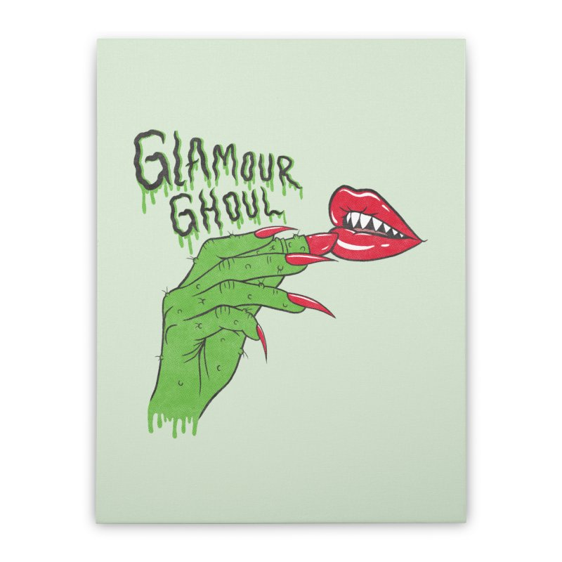 Glamour Ghoul Home Stretched Canvas by classycreeps's Artist Shop