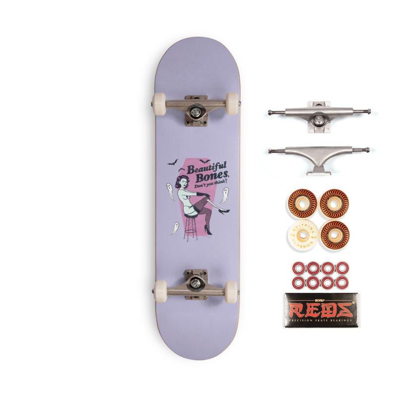 Beautiful Bones Accessories Skateboard by classycreeps's Artist Shop