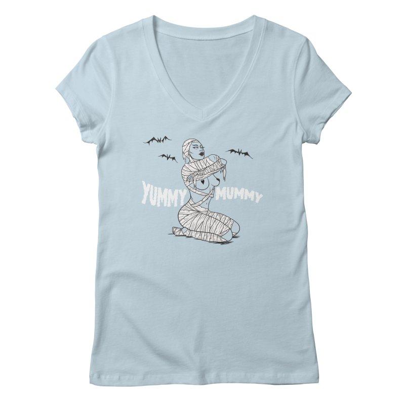 Yummy Mummy Women's V-Neck by classycreeps's Artist Shop