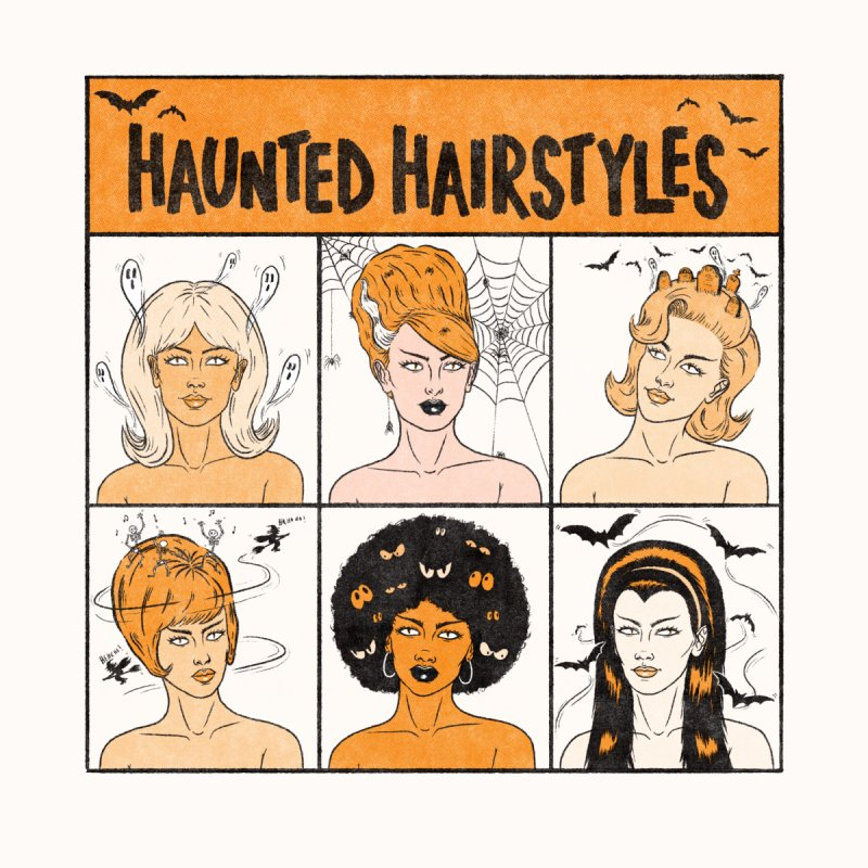 Haunted Hairstyles Women's T-Shirt by classycreeps's Artist Shop