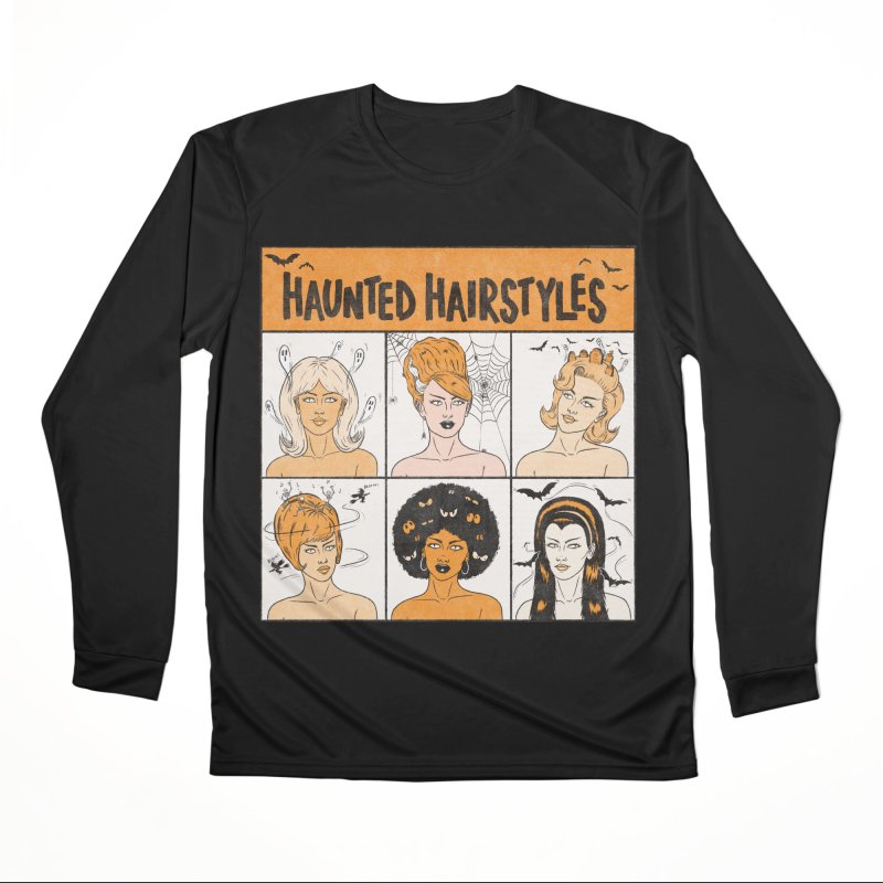 Haunted Hairstyles Men's Longsleeve T-Shirt by classycreeps's Artist Shop