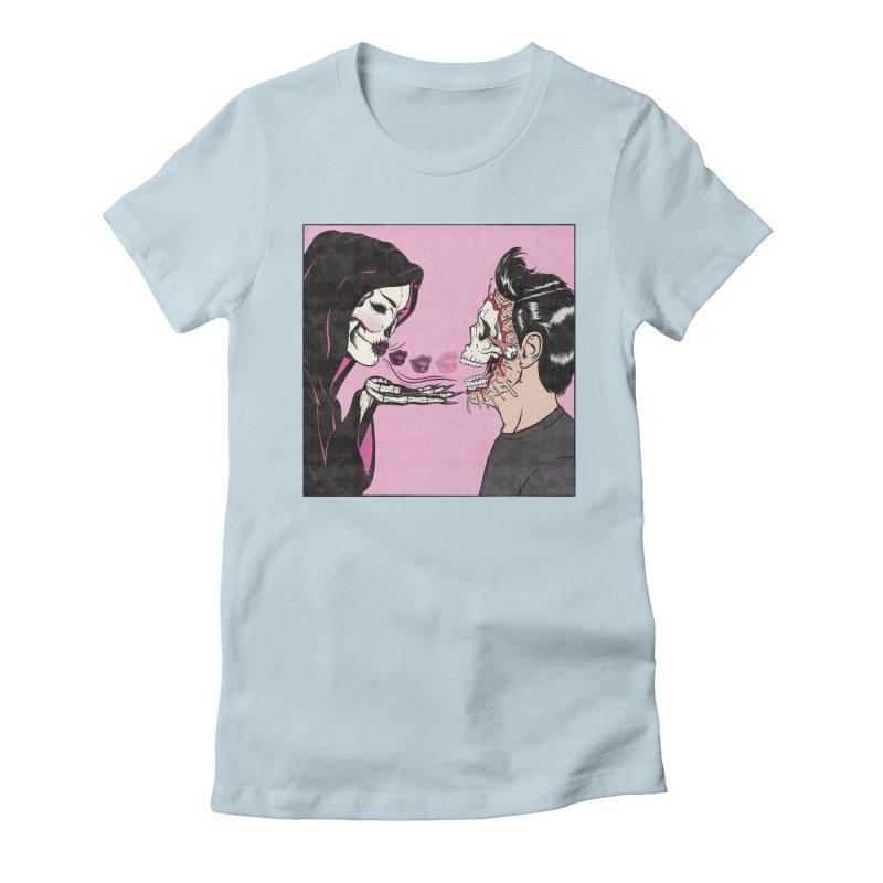 Kiss Of Death Women's T-Shirt by classycreeps's Artist Shop