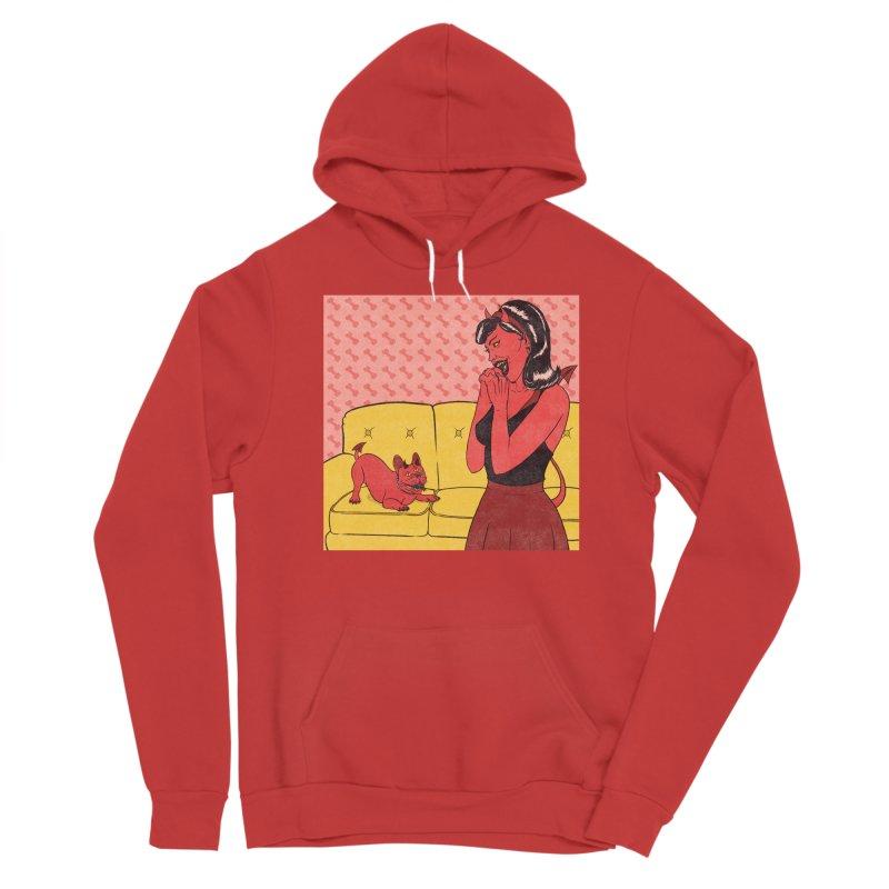 Demon Dog Men's Pullover Hoody by classycreeps's Artist Shop