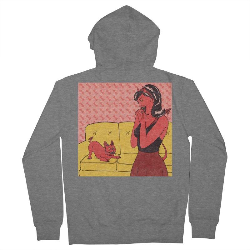 Demon Dog Men's Zip-Up Hoody by classycreeps's Artist Shop