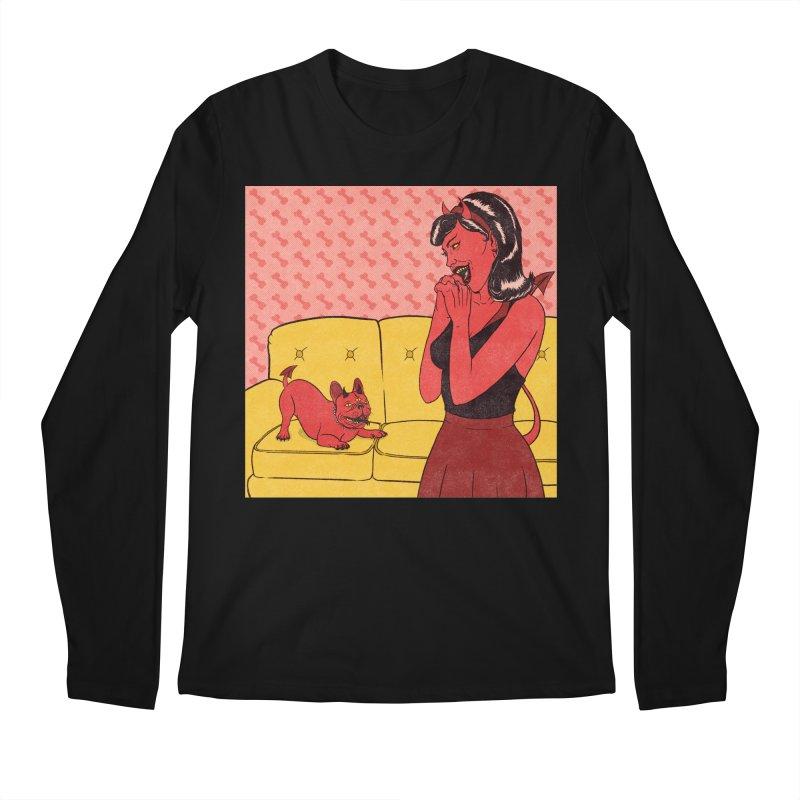 Demon Dog Men's Longsleeve T-Shirt by classycreeps's Artist Shop