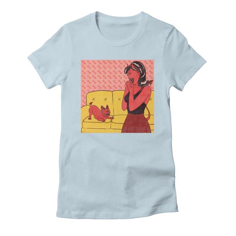 Demon Dog Women's T-Shirt by classycreeps's Artist Shop