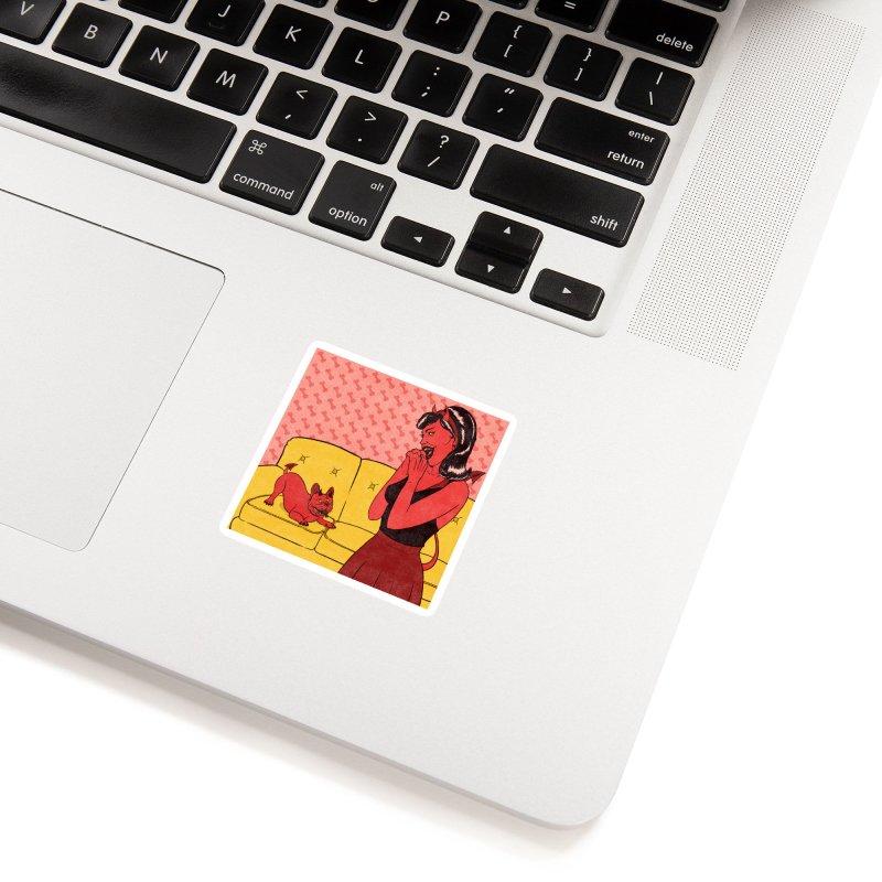 Demon Dog Accessories Sticker by classycreeps's Artist Shop