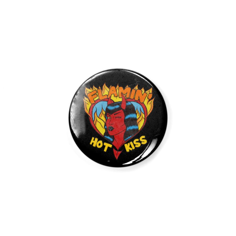 Flamin' Hot Kiss Accessories Button by classycreeps's Artist Shop
