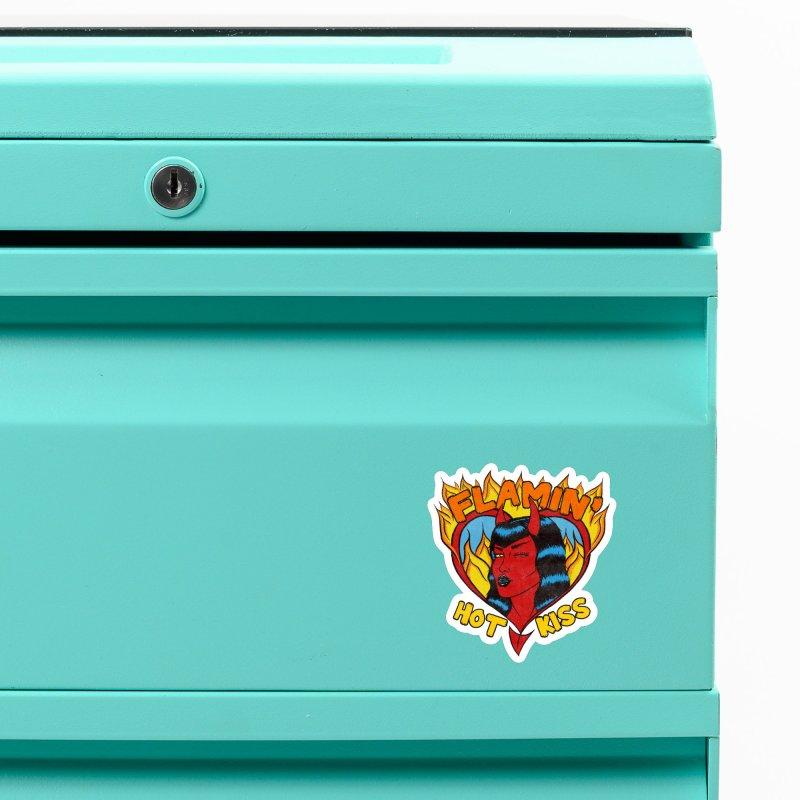 Flamin' Hot Kiss Accessories Magnet by classycreeps's Artist Shop