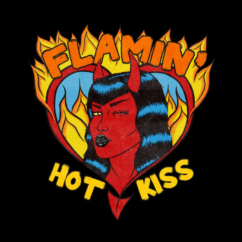 Flamin' Hot Kiss Women's T-Shirt by classycreeps's Artist Shop