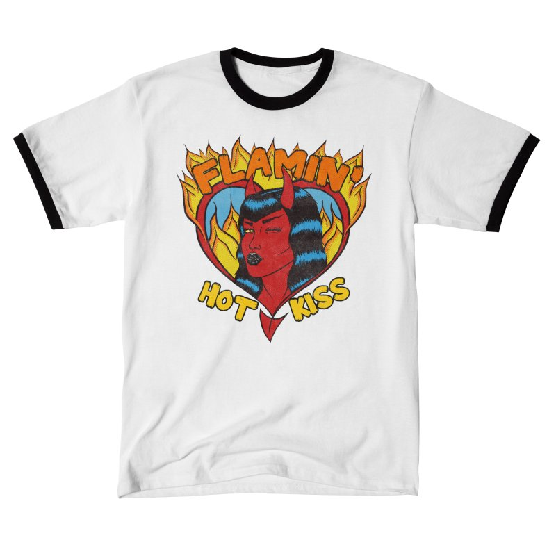 Flamin' Hot Kiss Men's T-Shirt by classycreeps's Artist Shop