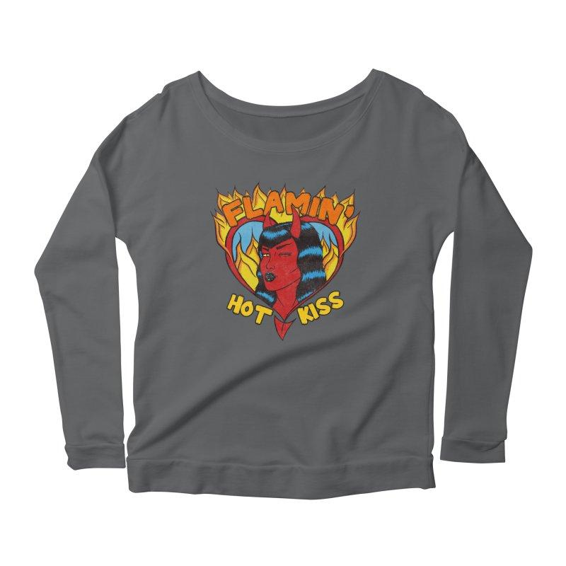Flamin' Hot Kiss Women's Longsleeve T-Shirt by classycreeps's Artist Shop