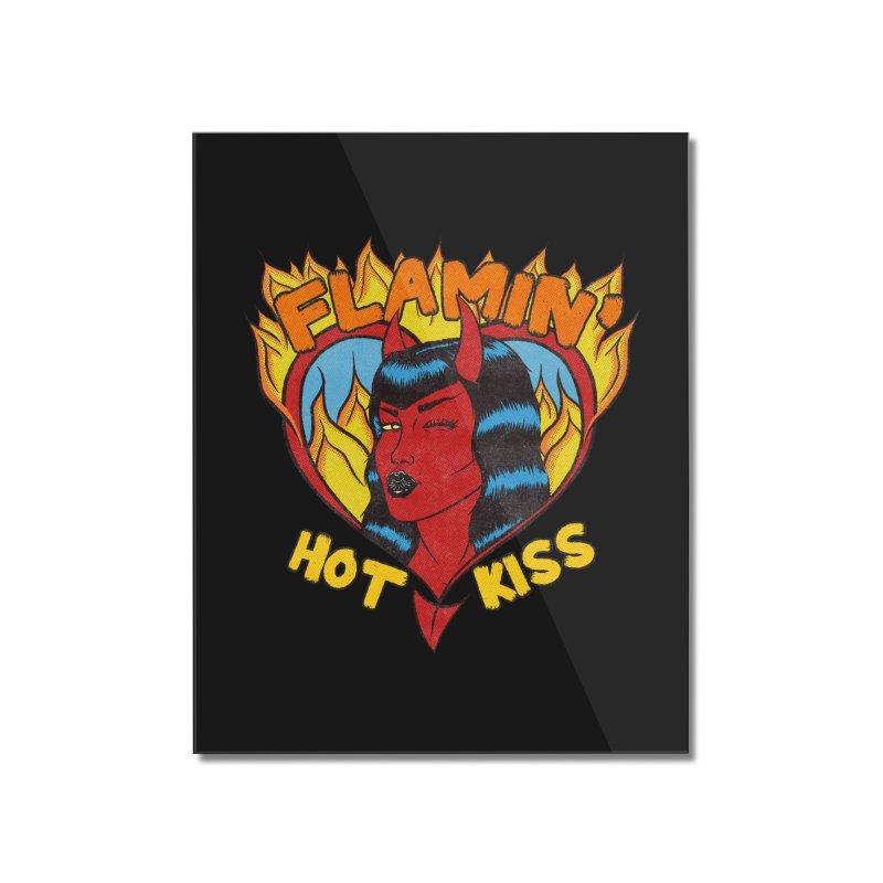 Flamin' Hot Kiss Home Mounted Acrylic Print by classycreeps's Artist Shop