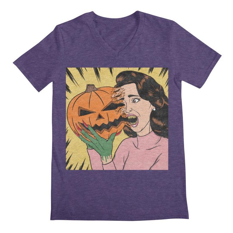 Get Into the Halloween Spirit! Men's V-Neck by classycreeps's Artist Shop