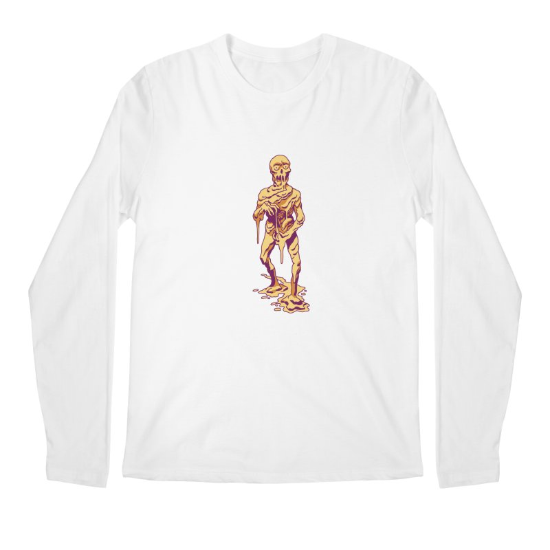 Melting Man Men's Longsleeve T-Shirt by clavcity's Shop