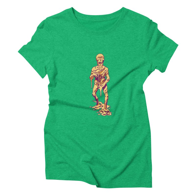 Melting Man Women's Triblend T-Shirt by clavcity's Shop