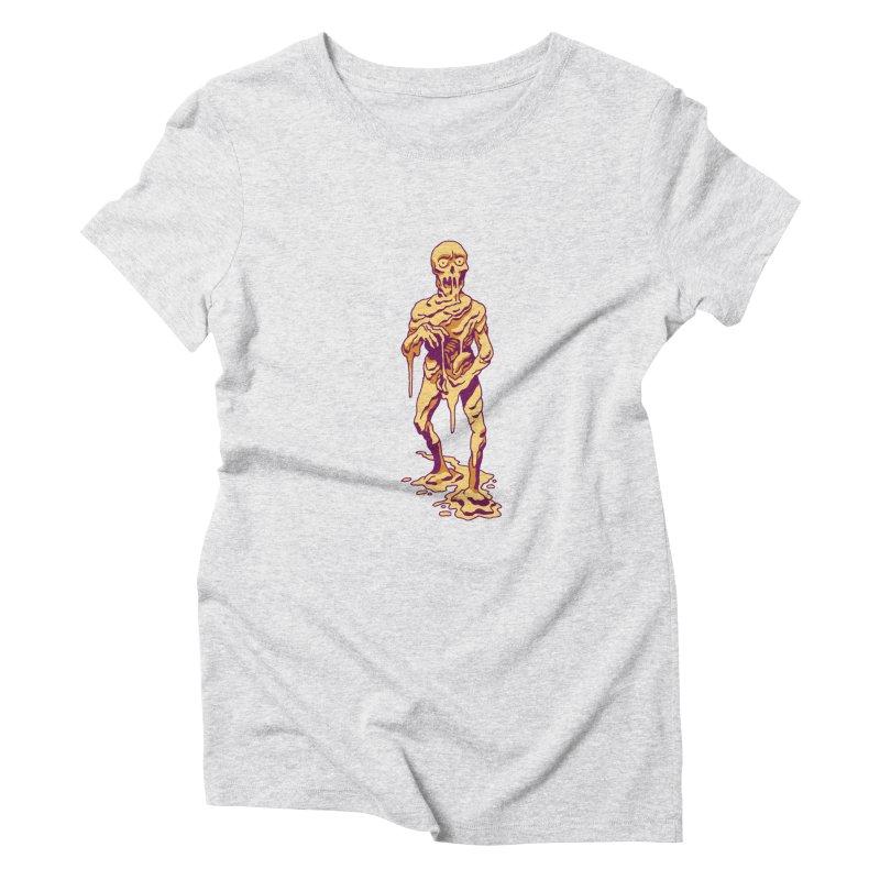 Melting Man Women's Triblend T-Shirt by clavcity's Shop