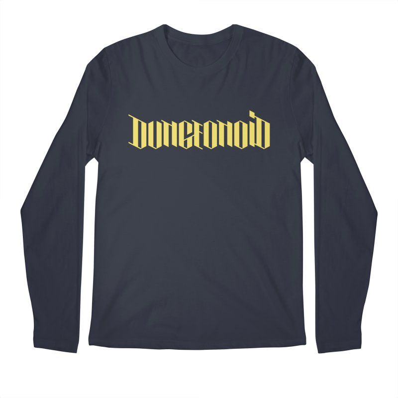 Dungeonoid (wordmark) Men's Regular Longsleeve T-Shirt by clavcity's Shop