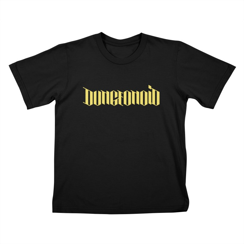 Dungeonoid (wordmark) Kids T-Shirt by clavcity's Shop
