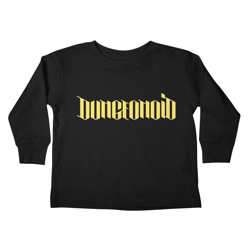 Dungeonoid (wordmark) Kids Toddler Longsleeve T-Shirt by clavcity's Shop