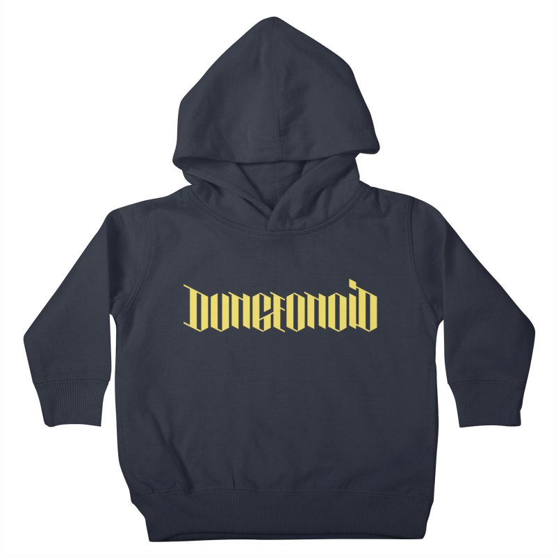 Dungeonoid (wordmark) Kids Toddler Pullover Hoody by clavcity's Shop