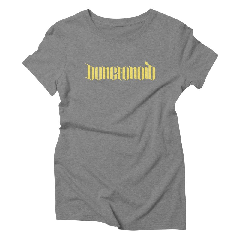 Dungeonoid (wordmark) Women's Triblend T-Shirt by clavcity's Shop