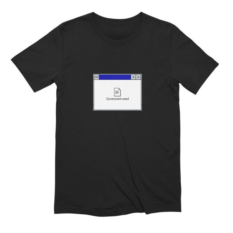 Government.weed Men's Extra Soft T-Shirt by clavcity's Shop