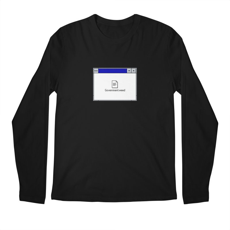 Government.weed Men's Regular Longsleeve T-Shirt by clavcity's Shop
