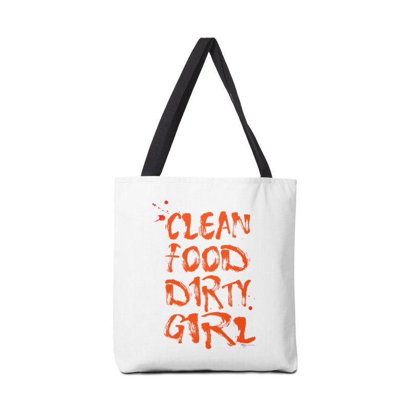 Large CFDG Text Accessories Bag by Clean Food Dirty Girl's Merch