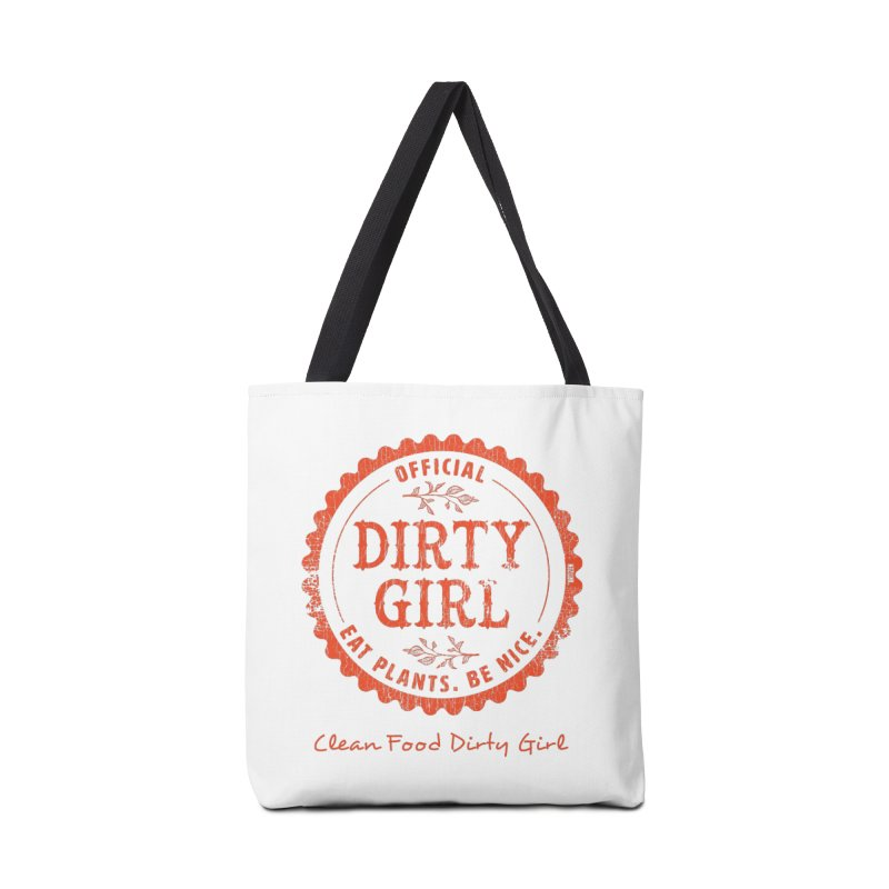 Official Dirty Girl Stamp Accessories Tote Bag Bag by Clean Food Dirty Girl's Official Merch