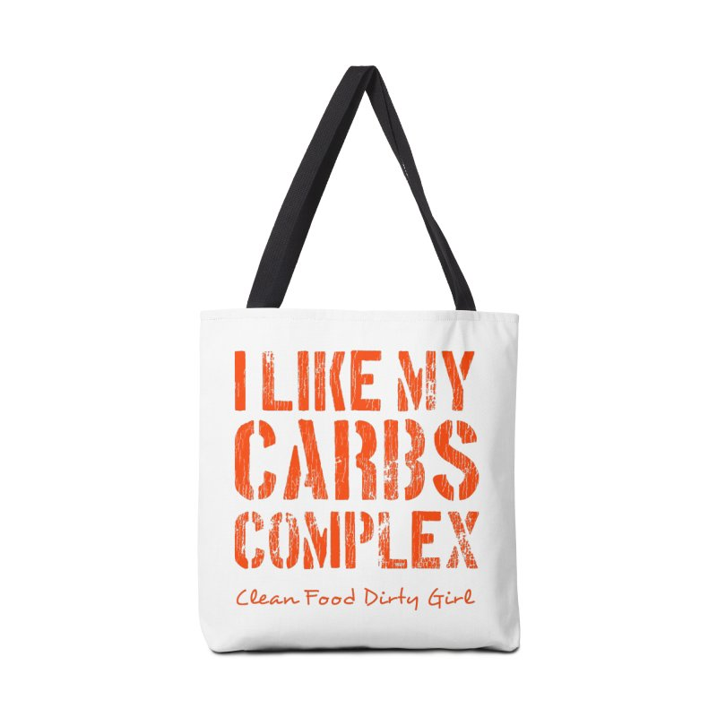 I Like My Carbs Complex Accessories Tote Bag Bag by Clean Food Dirty Girl's Official Merch