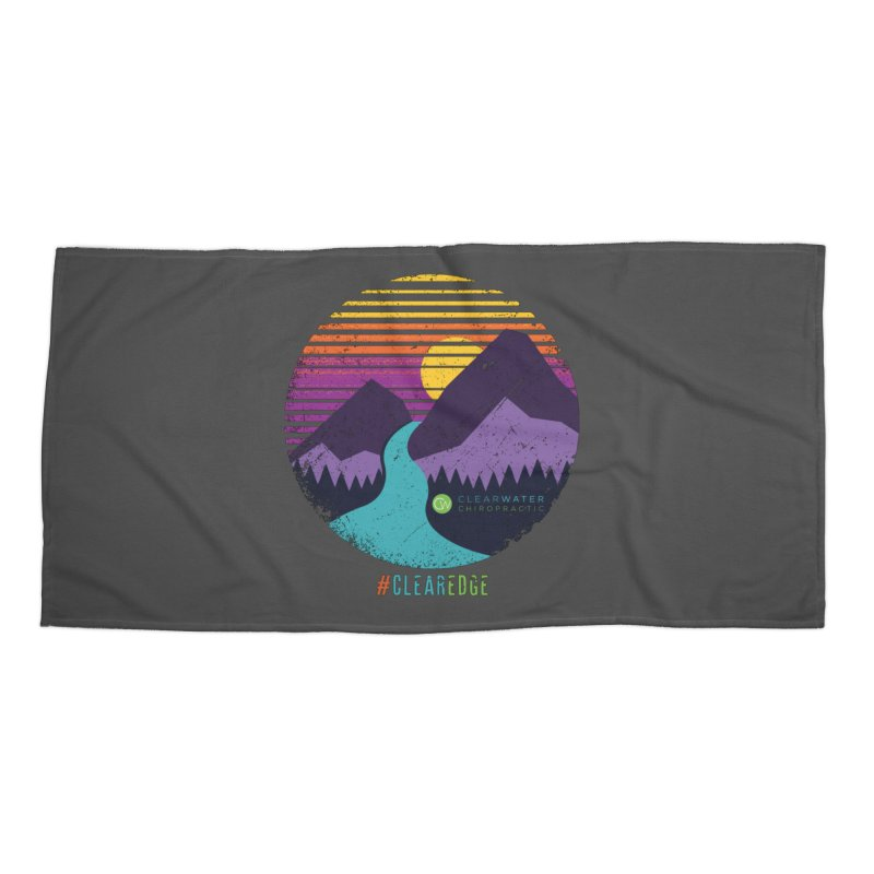 You Can Climb Mountains Accessories Beach Towel by Clearwater Chiropractic Gear