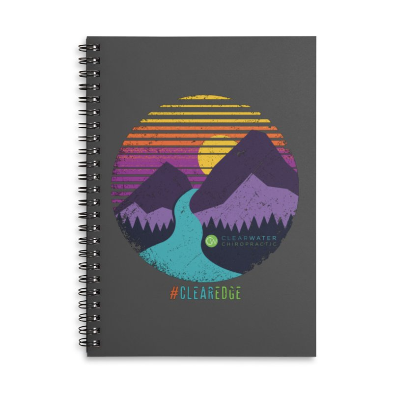 You Can Climb Mountains Accessories Lined Spiral Notebook by Clearwater Chiropractic Gear
