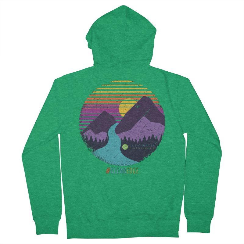 You Can Climb Mountains Women's Zip-Up Hoody by Clearwater Chiropractic Gear