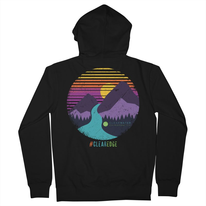 You Can Climb Mountains Women's French Terry Zip-Up Hoody by Clearwater Chiropractic Gear
