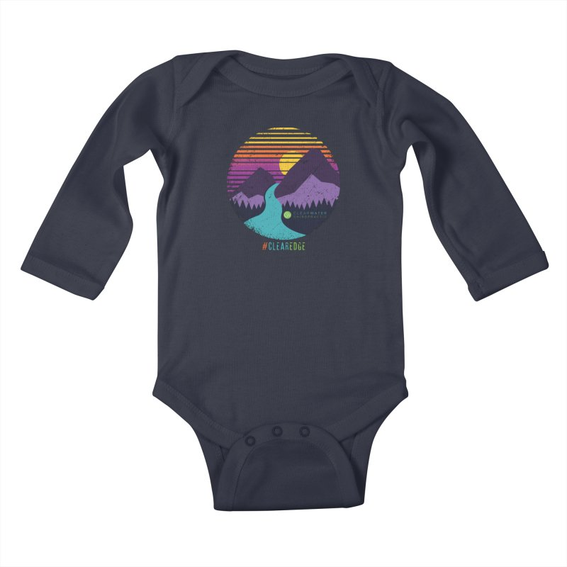 You Can Climb Mountains Kids Baby Longsleeve Bodysuit by Clearwater Chiropractic Gear