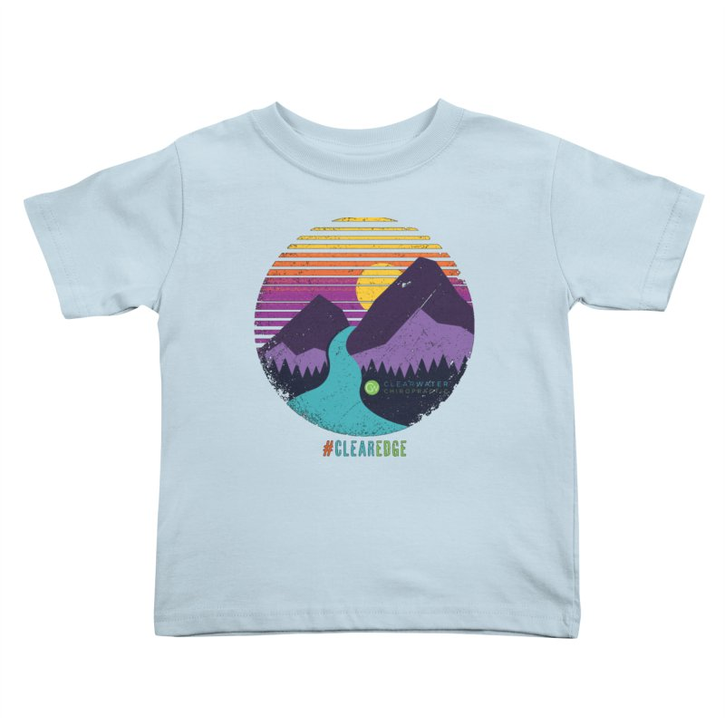 You Can Climb Mountains Kids Toddler T-Shirt by Clearwater Chiropractic Gear