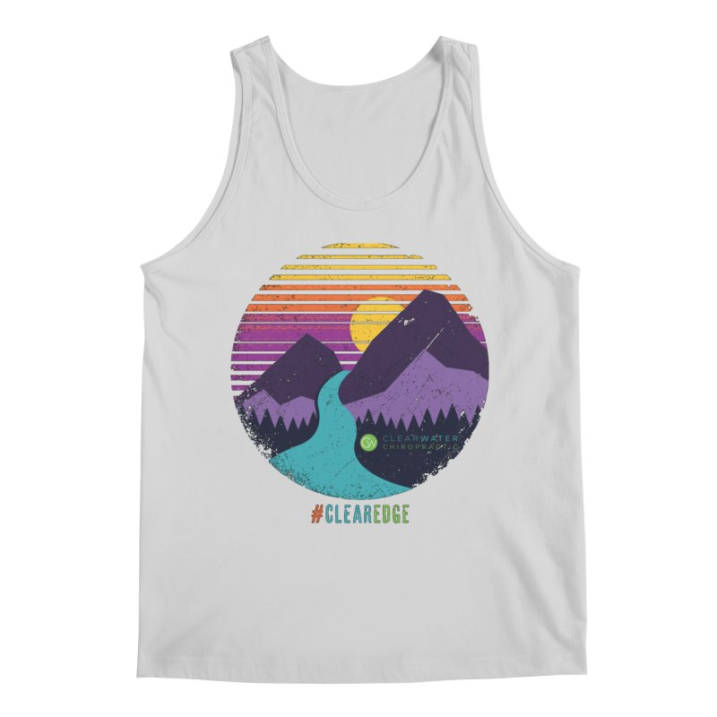 You Can Climb Mountains Men's Tank by Clearwater Chiropractic Gear
